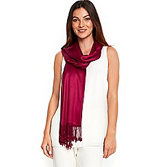 Wallis - Magenta luxe pashmina scarf