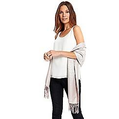 Wallis - Oyster jacquard scarf