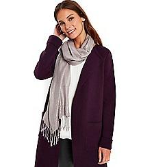 Wallis - Silver shimmer pashmina scarf