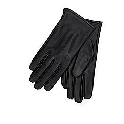 Wallis - Black leather gloves