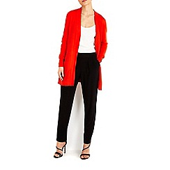 Wallis - Orange longline cardigan