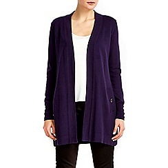Wallis - Purple button longline cardigan