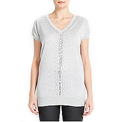 Wallis - Silver sequin bead tunic