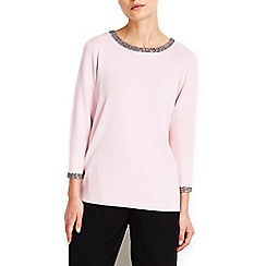 Wallis - Pink necklace jumper