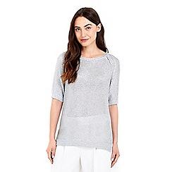 Wallis - Silver metallic jumper top