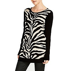Wallis - Animal print tunic jumper