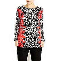 Wallis - Red printed jumper