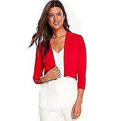 Wallis - Red pleat back shrug