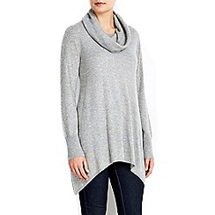 Wallis - Grey cowl neck jumper