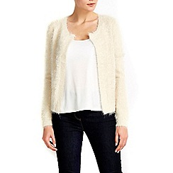 Wallis - Champagne fluffy shrug