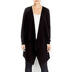 Wallis - Black waterfall cardigan