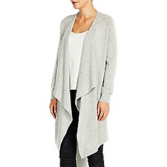 Wallis - Grey waterfall cardigan