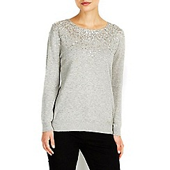 Wallis - Grey scatter embellished jumper