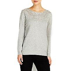 Wallis - Grey scatter embellished jumper