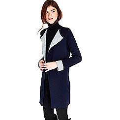 Wallis - Navy double faced coatigan