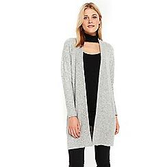 Wallis - Grey rib panel cardigan