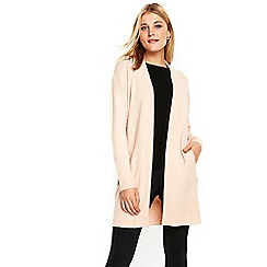 Wallis - Blush rib panel compact cardigan