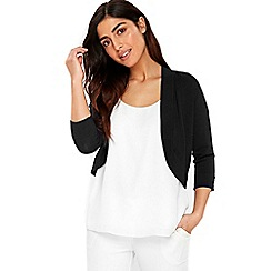 Wallis - Black curve hem shrug
