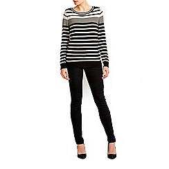 Wallis - Black and stone striped jumper