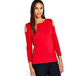 Wallis - Red cut out shoulder top