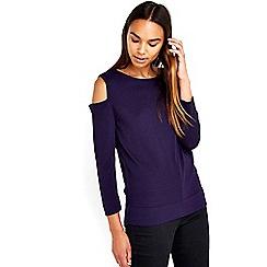 Wallis - Purple cut out shoulder top