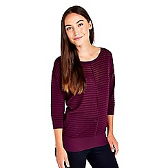 Wallis - Berry 3/4 sleeve knitted top