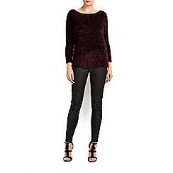 Wallis - Berry metallic jumper