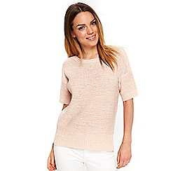 Wallis - Blush short sleeves knitted top