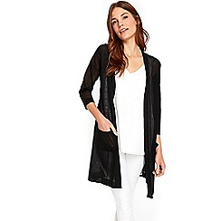 Wallis - Black crepe cardigan
