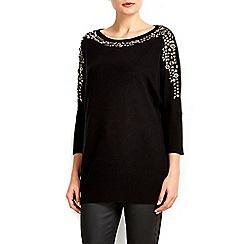 Wallis - Black mixed stud embellished jumper