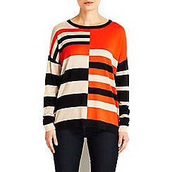 Wallis - Half colour block jumper