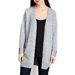 Wallis - Grey longline compact cardigan