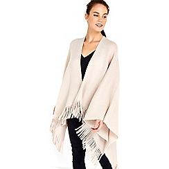Wallis - Pale pink brushed wrap