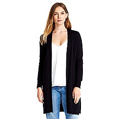 Wallis - Black longline button cardigan