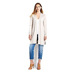 Wallis - Stone longline button cardigan