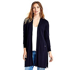 Wallis - Navy longline button cardigan