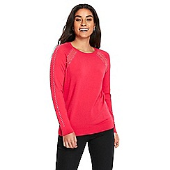 Wallis - Pink embellished detail jumper