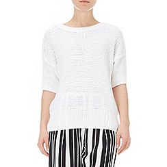 Wallis - White short sleeve jumper