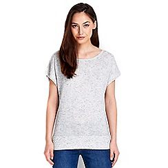 Wallis - Grey zip back top