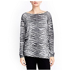 Wallis - Zebra metallic stripe jumper