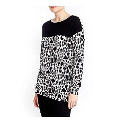 Wallis - Leopard colour block jumper