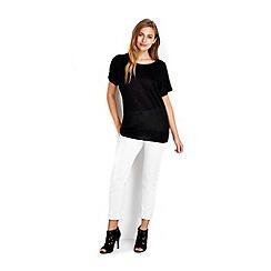 Wallis - Black metallic cold shoulder jumper