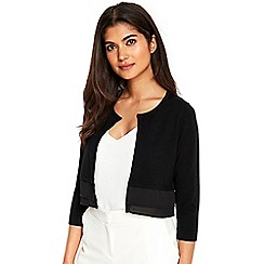 Wallis - Black hem shrug
