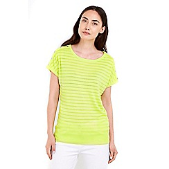 Wallis - Lime thick and thin button top