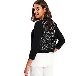 Wallis - Black lace back shrug