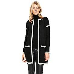 Wallis - Black and grey coatigan
