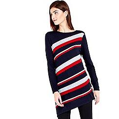 Wallis - Navy stripe asymmetric tunic