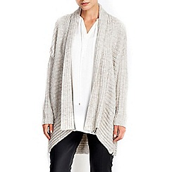 Wallis - Stone rib cocoon coatigan