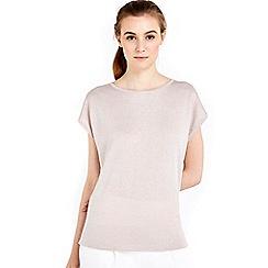 Wallis - Pale pink metallic top