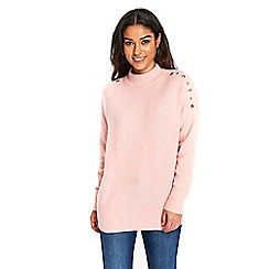 Wallis - Pink eyelet shoulder jumper